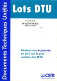 CSTB - Maçonnerie - Bâtiments collectifs.