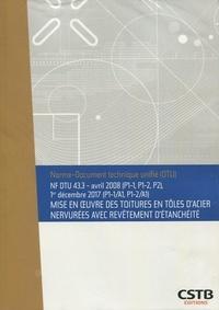 Deedr.fr NF DTU 43.3 Mise en oeuvre des toitutres en tôles d'acier nervurées avec revêtement d'étanchéité - Avril 2008 (P1-1, P1-2, P2), 1er décembre 2017 (P1-1/A1, P1-2/A1) Image