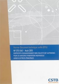 Deedr.fr NF DTU 64.1 Dispositifs d'assainissement non collectif (dit autonome) - Pour les maisons d'habitation individuelle jusqu'à 20 pièces principales Image
