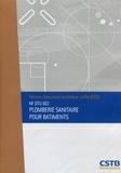 CSTB - Plomberie sanitaire pour bâtiments - NF DTU 60.1.