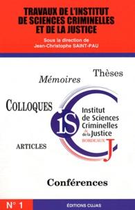 Travaux de lInstitut de sciences criminelles et de la justice - N° 1.pdf