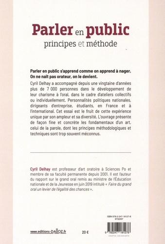 Parler en public. Principes et méthode