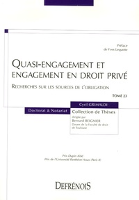 Quasi-engagement et engagement en droit privé - Recherches sur les sources de lobligation.pdf
