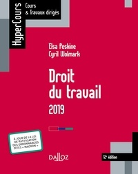 Cyril Wolmark et Elsa Peskine - Droit du travail 2019.