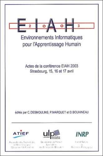Cyrille Desmoulins et Pascal Marquet - Environnements informatiques pour l'apprentissage humain - Actes de la conférence EIAH 2003 Strasbourg, 15, 16 et 17 avril 2003.