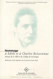 Cyrille Gigandet - Hommage à Edith et à Charles Boissonnas - Autour de la NRF, de Jean Paulhan et du Collège de sociologie.