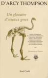 D'Arcy Wentworth Thompson - Un glossaire d'oiseaux grecs.