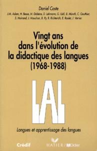 D. Coste - Vingt ans dans l'évolution de la didactique des langues - 1968-1988.