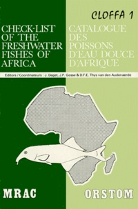 Histoiresdenlire.be CATALOGUE DES POISSONS D'EAU DOUCE D'AFRIQUE. Tome 1 Image