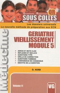 D. Korb - Geriatrie vieillissement module 5.