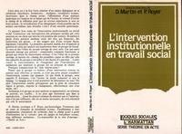 D Martin - L'Intervention institutionnelle en travail social.