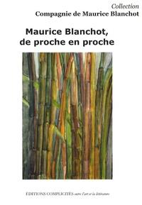 Daiana Manoury - Maurice Blanchot, de proche en proche.