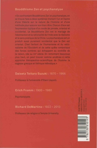 Bouddhisme Zen et psychanalyse 8e édition
