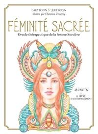 Daisy Bodin et Julie Bodin - Coffret Féminité sacrée - Oracle thérapeutique de la Femme Sorcière. Avec 48 cartes et 1 livret d'accompagnement.