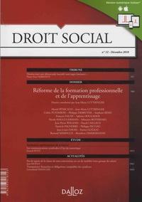 Christophe Radé - Droit Social N° 12, décembre 2018 : Réforme de la formation professionnelle et de l'apprentissage.