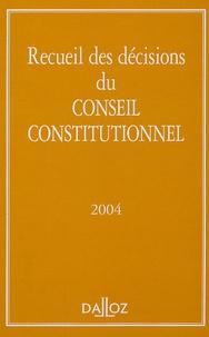 Dalloz - Recueil des décisions du Conseil constitutionnel 2004.