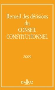 Dalloz - Recueil des décisions du Conseil constitutionnel 2009.