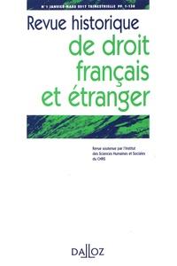 Corinne Leveleux-Teixeira et Olivier Descamps - Revue historique de droit français et étranger N° 1, janvier-mars 2 : .