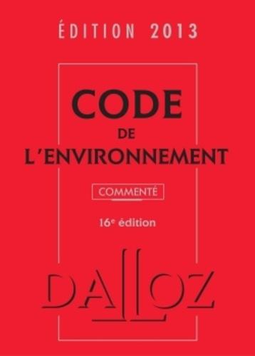 Dalloz-Sirey - Code de l'environnement 2013 commenté. 1 Cédérom