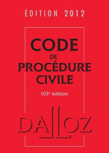 Dalloz-Sirey - Code de procédure civile 2012.