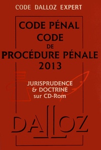 Dalloz-Sirey - Coffret Code Dalloz Expert Code de procédure pénale 2013 - Jurisprudence et doctrine. 1 Cédérom