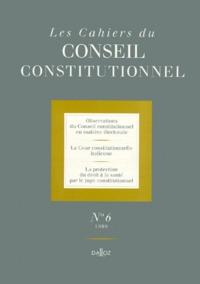 Histoiresdenlire.be LES CAHIERS DU CONSEIL CONSTITUTIONNEL N°6 1999 Image