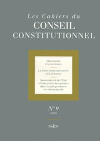 Rhonealpesinfo.fr Les Cahiers du Conseil constitutionnel N° 9/2000 Image