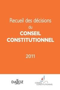 Dalloz-Sirey - Recueil des décisions du conseil constitutionnel 2011.