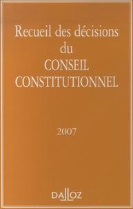 Dalloz-Sirey - Recueil des décisions du Conseil constitutionnel.