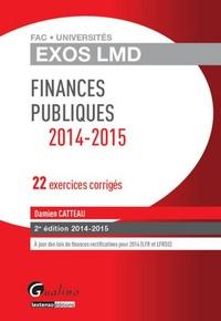 Damien Catteau - Finances publiques 2014-2015 - 22 exercices corrigés.
