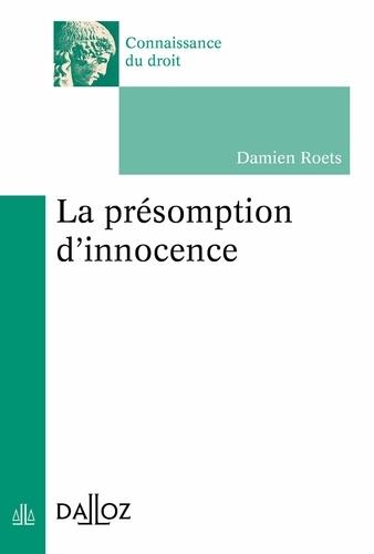La présomption d'innocence - Nouveauté