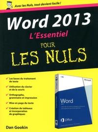 Dan Gookin - Word 2013 L'Essentiel pour les Nuls.