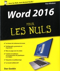Word 2016 pour les nuls - Dan Gookin pdf epub