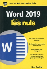 Word 2019 pour les Nuls - Dan Gookin pdf epub