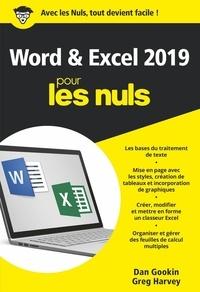 Dan Gookin et Greg Harvey - Word et Excel 2019 Poche Pour les Nuls.