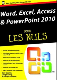 Histoiresdenlire.be Word, Excel, Access, PowerPoint 2010 pour les Nuls Image