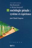 Dan Kaminski et Michel Kokoreff - Sociologie pénale : système et expérience - Pour Claude Faugeron.