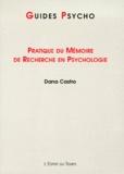 Dana Castro - Pratique du mémoire de recherche en psychologie.