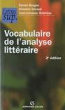 Daniel Bergez et Violaine Géraud - Vocabulaire de l'analyse littéraire.