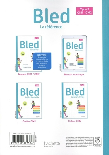 Bled CM1-CM2 Cycle 3  Edition 2020