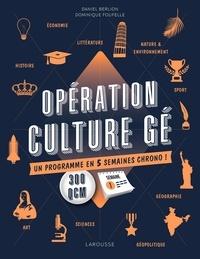 Opération culture gé- Un programme en 5 semaines chrono ! - Daniel Berlion |