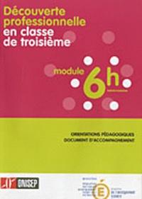 Daniel Bloch - Découverte professionnelle en classe de 3e, module 6h hebdomadaires - Orientations pédagogiques, document d'accompagnement.