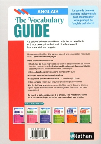 The Vocabulary Guide. Les mots anglais et leur emploi 2e édition