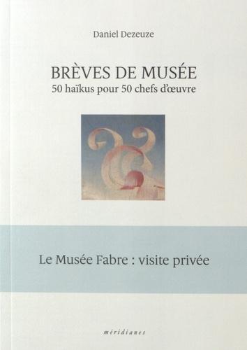 Daniel Dezeuze - Brèves de musée - 50 haïkus pour 50 chefs d'oeuvre.