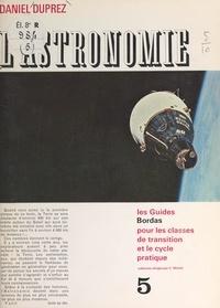 Daniel Duprez et C. Michel - L'astronomie.