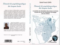 Daniel Franck Idiata - Eléments de psycholinguistique bantu.
