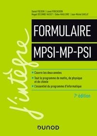 Daniel Fredon et Lionel Porcheron - Formulaire MPSI-MP-PSI - 7e éd..