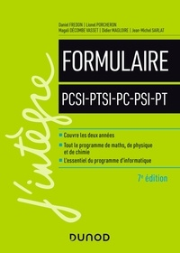 Daniel Fredon et Lionel Porcheron - Formulaire PCSI-PTSI-PC-PSI-PT.
