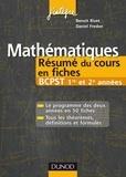 Daniel Fredon et Benoît Rivet - Mathématiques Résumé du cours en fiches BCPST 1re et 2e années.