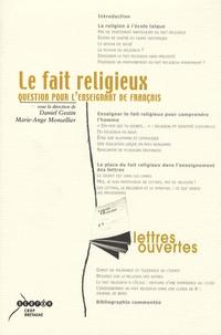 Daniel Gestin - Le fait religieux - Question pour l'enseignant de francais.